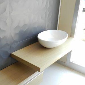 top Piani lavabo in legno rovere