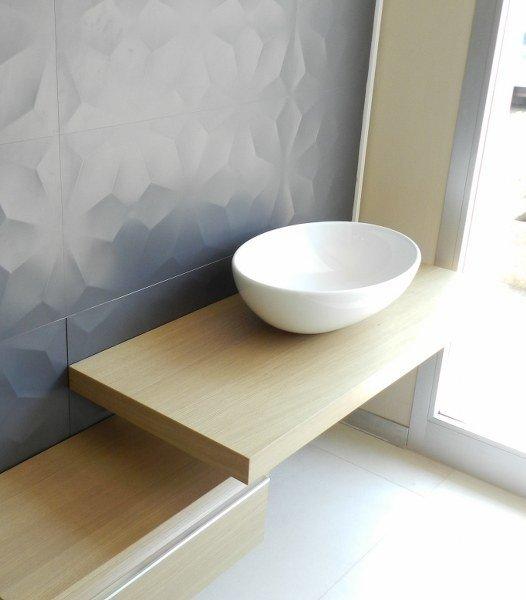 Top piani lavabo in legno rovere SU MISURA - Borgoceramica Bologna