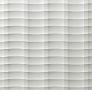 atlas 3d wall mesh white matt