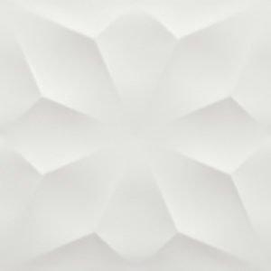 atlas 3d wall diamond white matt