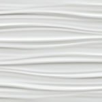 atlas 3d wall ribbon white matt