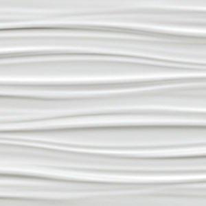 atlas 3d wall ribbon white matt